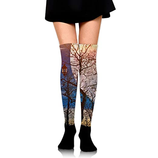 0961359c5d77c Kyliel Over the Knee Thigh High Socks, Full Moon Print High Boot ...