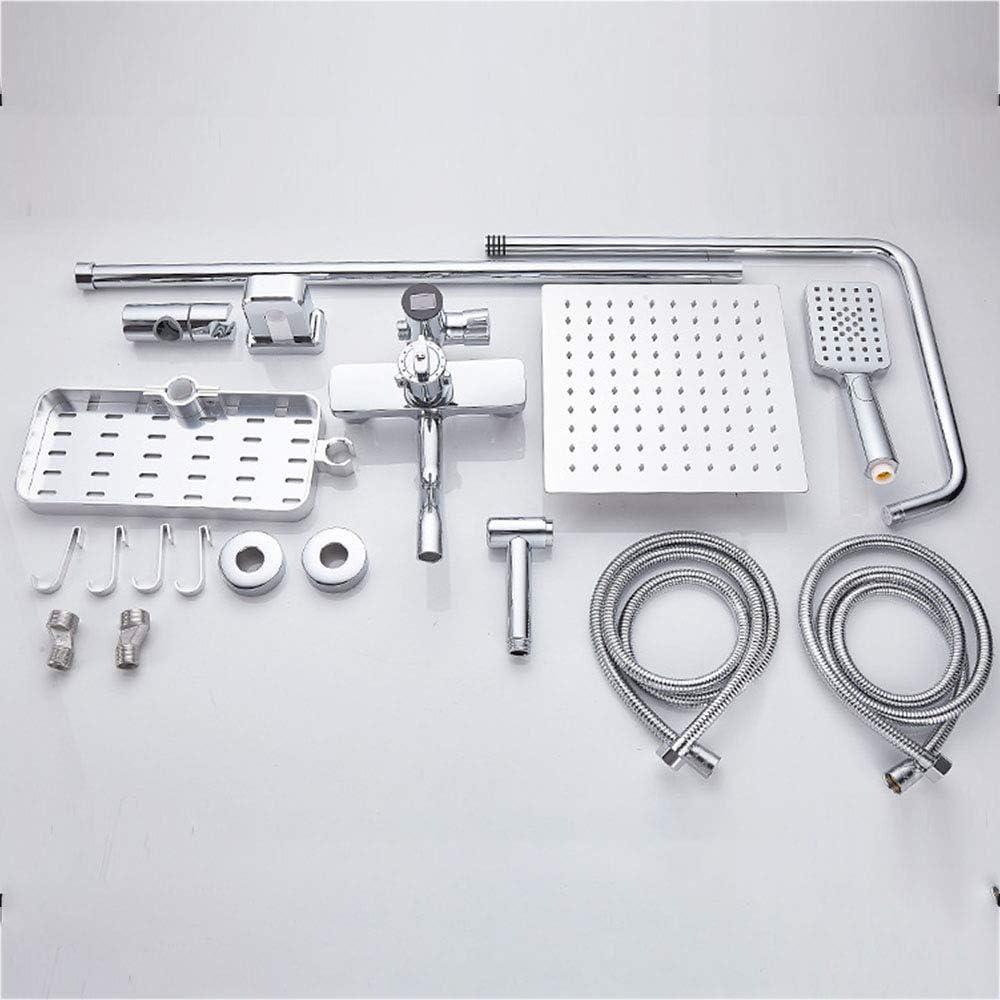 LTAYZ Sistema Inteligente de Ducha termostática, Control de Temperatura Pantalla Digital Cuatro características Revestimiento de vacío en la Pared de la Pistola de rociado,Squarenozzle: Amazon.es: Deportes y aire libre