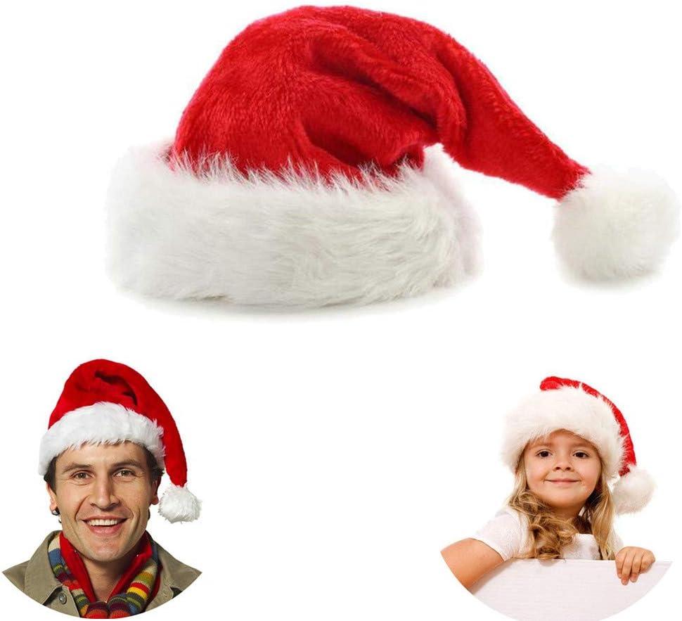 Chytaii Sombrero de Navidad Gorros Rojos de Papá Noel de Navidad Sombrero de Papé Noel de Felpa Corta para Niños y Adultos Celebración de Navidad Estilo Clásico Rojo Pelusa Corta: Amazon.es: Hogar