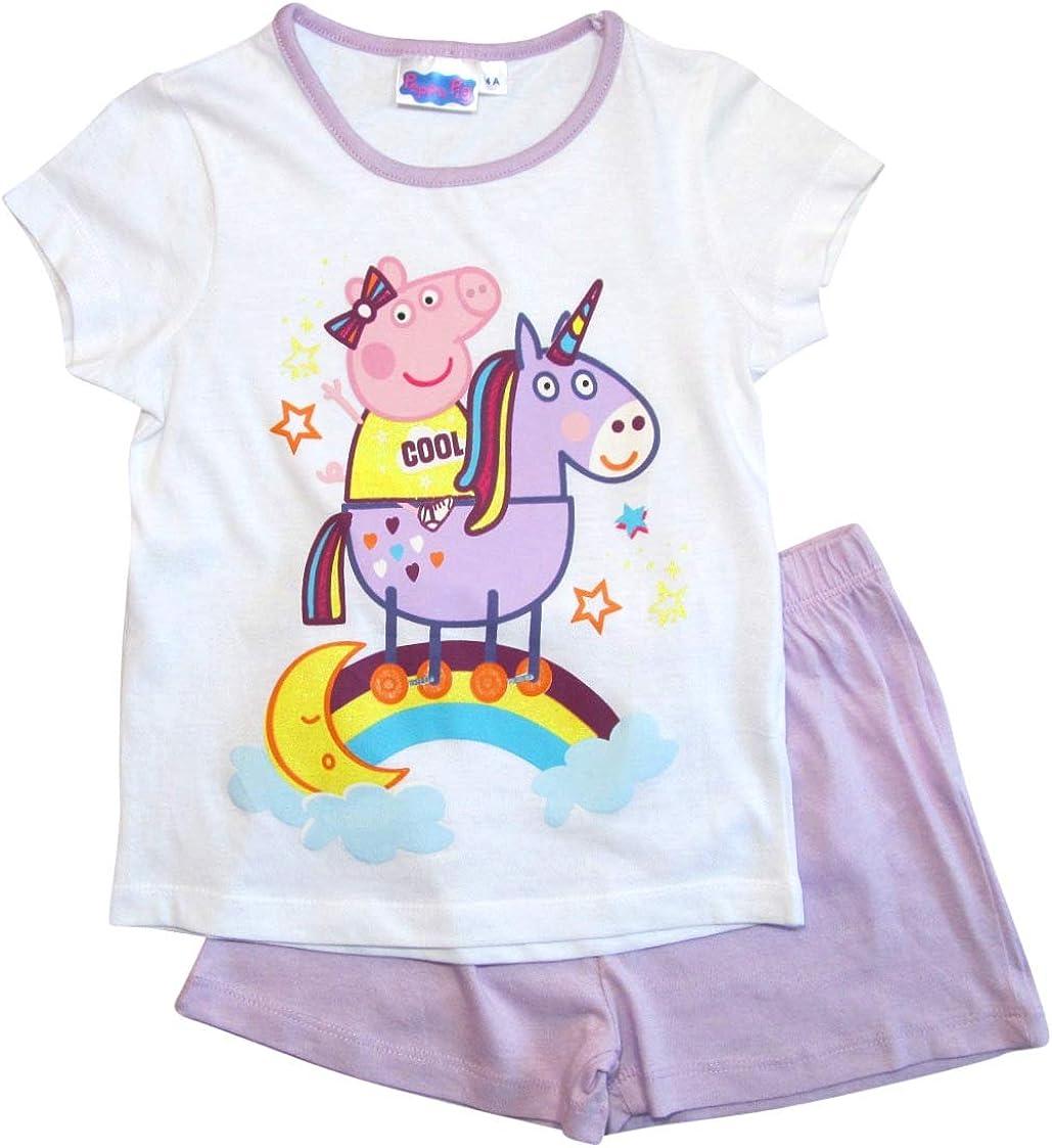 Peppa Pig - Peppa Wutz - Pijama - para niña Flieder-weiß 6 años ...