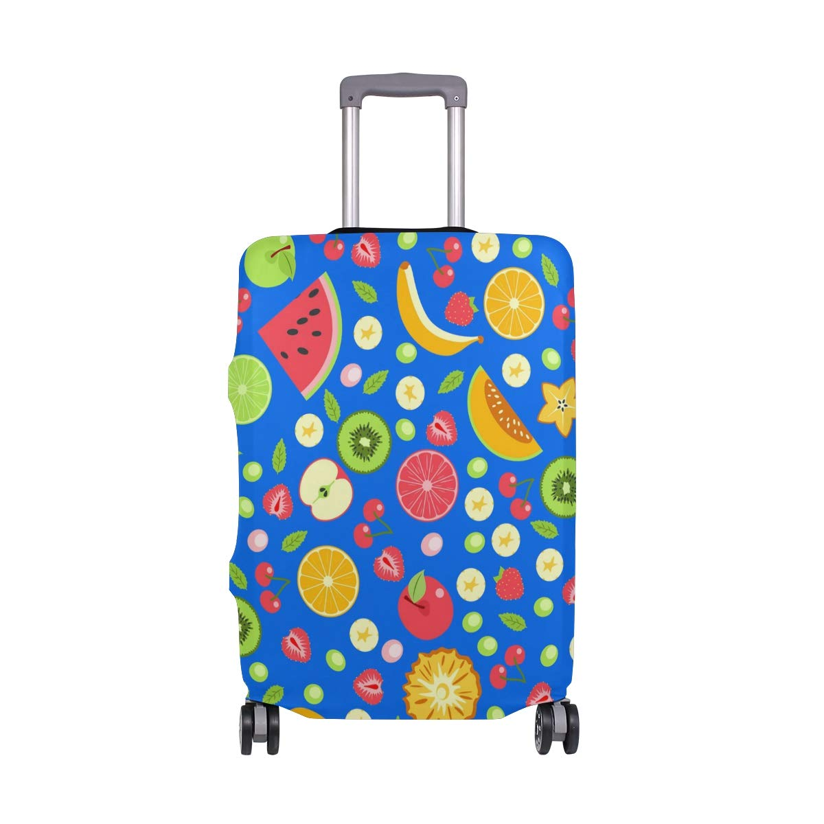 FOLPPLY Colorful Summer Fruits Luggage Cover Baggage Suitcase Travel Protector Fit for 18-32 Inch