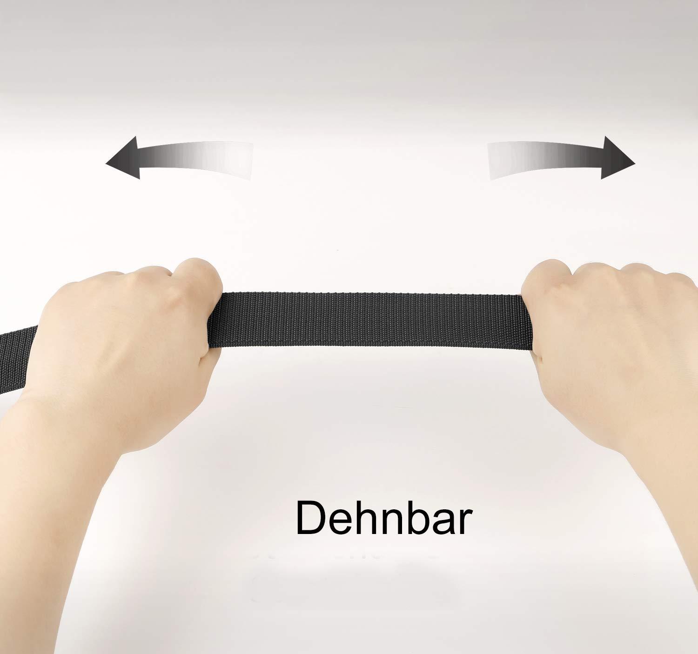 JasGood Herren Gürtel Nylon Stoffgürtel Verstellbarer Wasserdichte Taktische Gürtel mit YKK Kunststoff Schnalle Länge 125cm