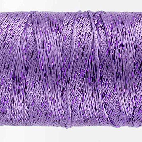 Lavender 200 yard 8wt. Rayon with One Strand of Metallic WonderFil Specialty Threads Dazzle