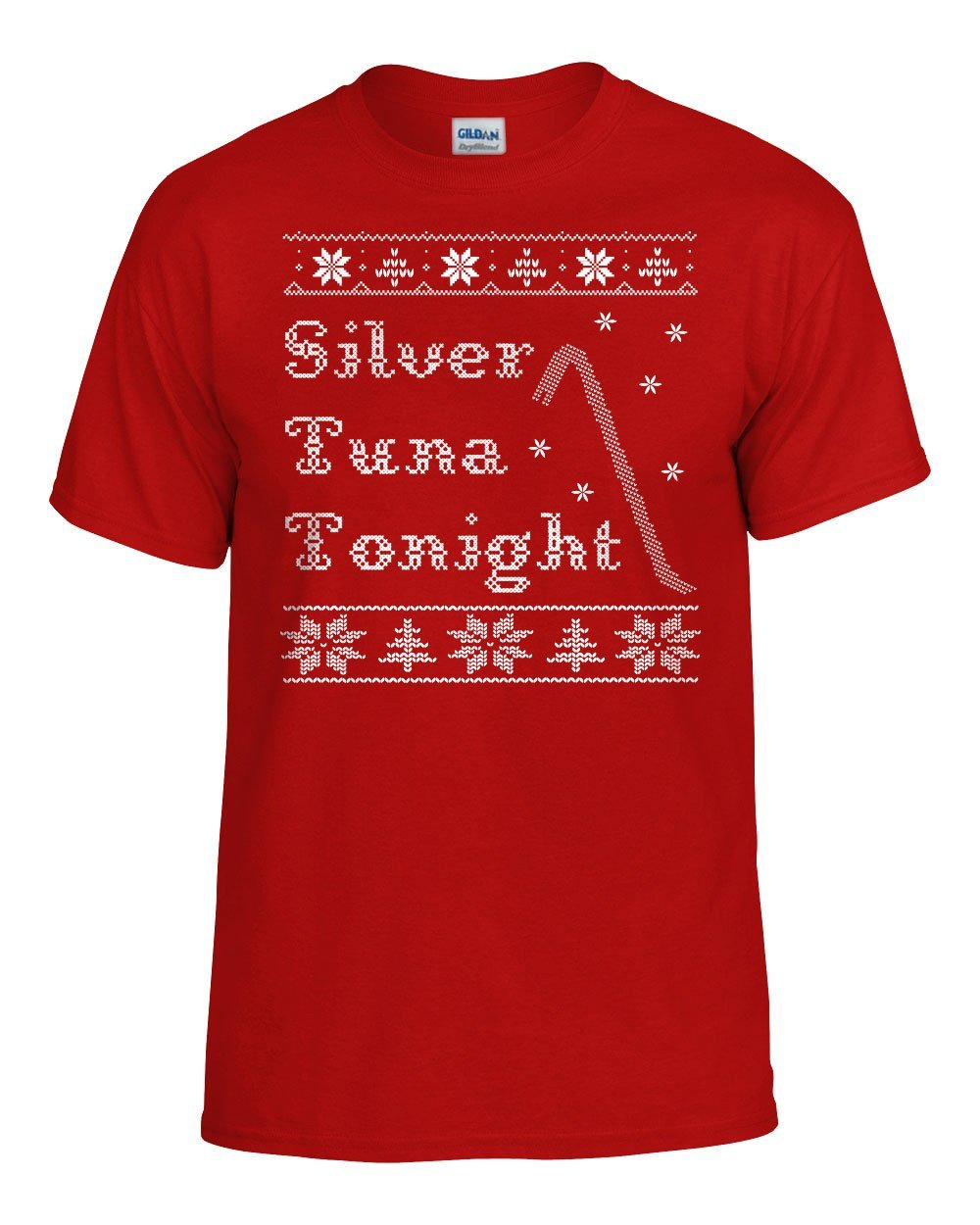 Home Alone T-Shirt Silver Tuna Tonight Funny Christmas Ugly Sweater Retro Movie Cross Stitch Retro