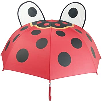 Partiss paraguas para niños, Infantil, Ladybug, talla única