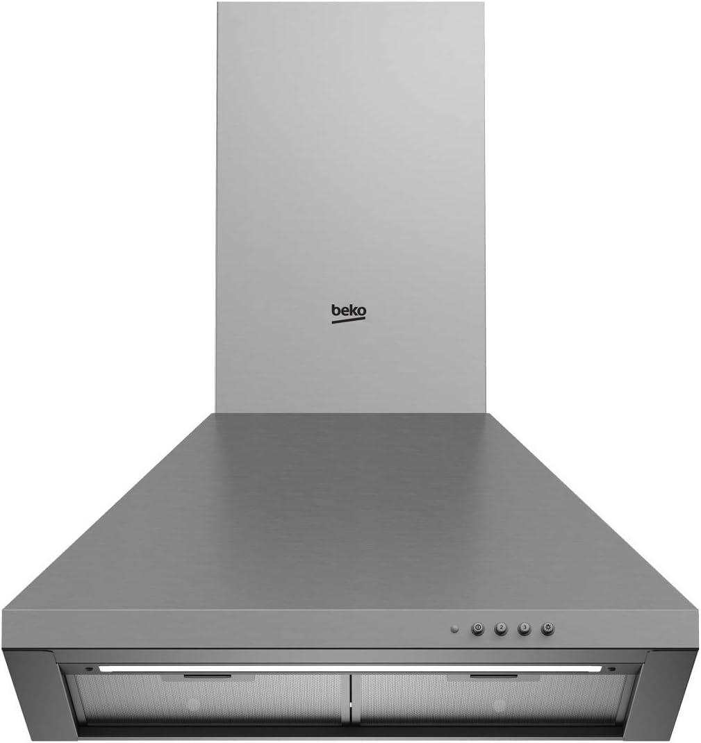 Beko CWB 6441 XN - Campana Decorativa piramidal inox de 60cm: Amazon.es: Grandes electrodomésticos