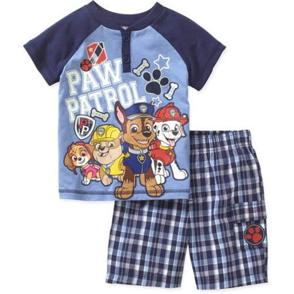 Paw Patrol Little Boy Short Sleeve Shirt Shorts Set Size 5 T