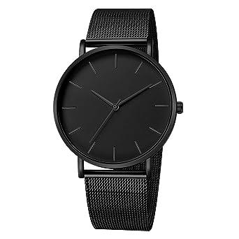 BBestseller Moda Reloj para Hombre - Correa de Aleación Ultra-Delgado Impermeable Deportivos Relojes de Pulsera Correa de Malla (Negro): Amazon.es: Ropa y ...