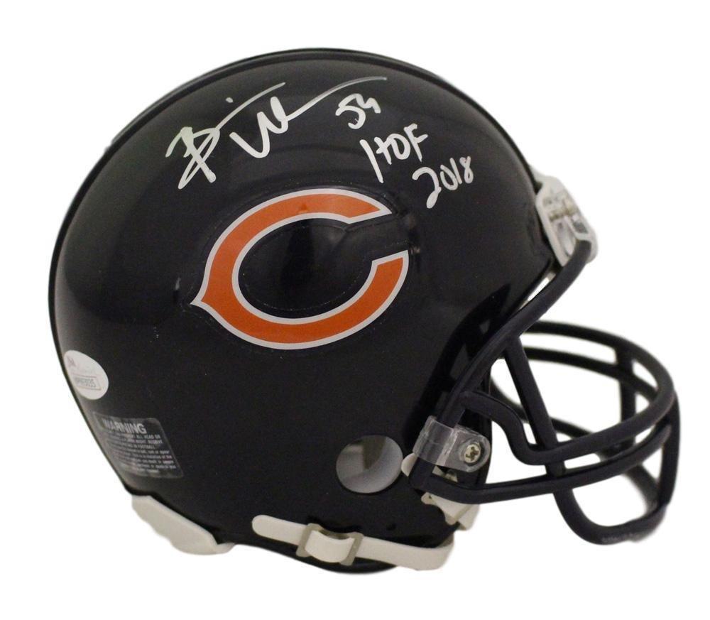 Brian Urlacher Hof 2018 Autographed Signed Chicago Bears Mini Helmet Jsa Coa Football-nfl Helmets