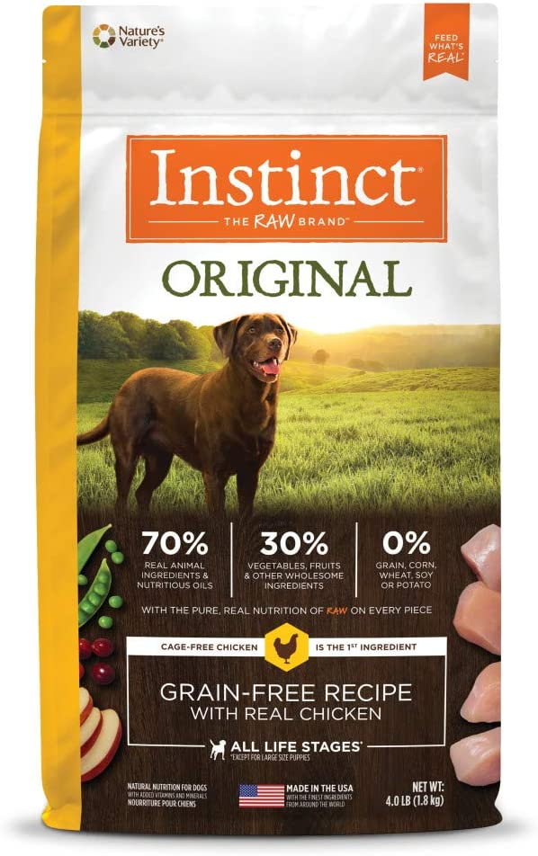 Instinct Grain-Free Dry Dog Food, Original Raw Coated Natural High Protein Dog Food
