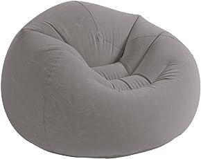 Intex Beanless Bag™ Silla Inflable, 107 cm x 104 cm x 68.5 cm, beige