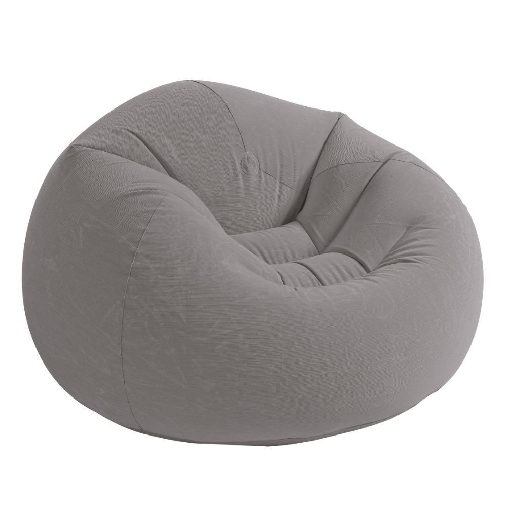 Tremendous Details About Grey Dorm Chair Beanless Bean Bag Lounge Inflatable Seat Gaming Room Big Lounger Andrewgaddart Wooden Chair Designs For Living Room Andrewgaddartcom