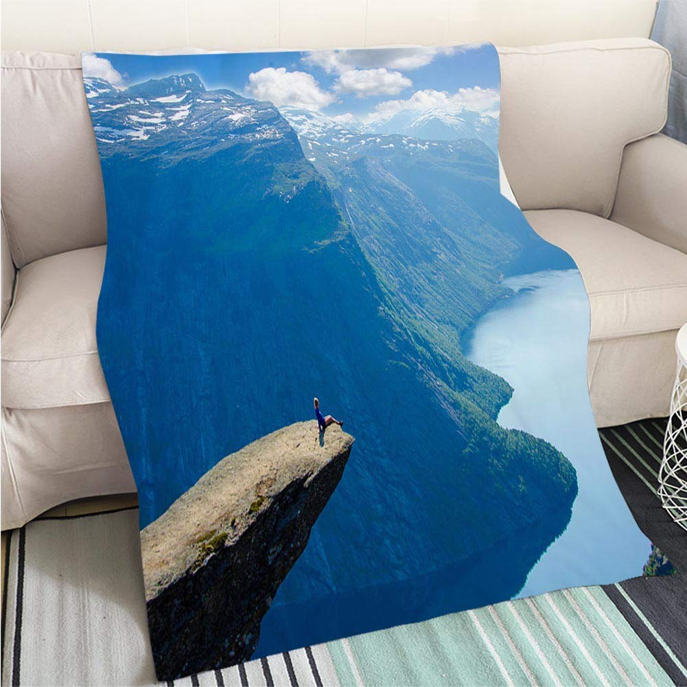 color3 47 x 80in Luxury Super Soft Blanket Tropical Background Perfect for Couch Sofa or Bed Cool Quilt