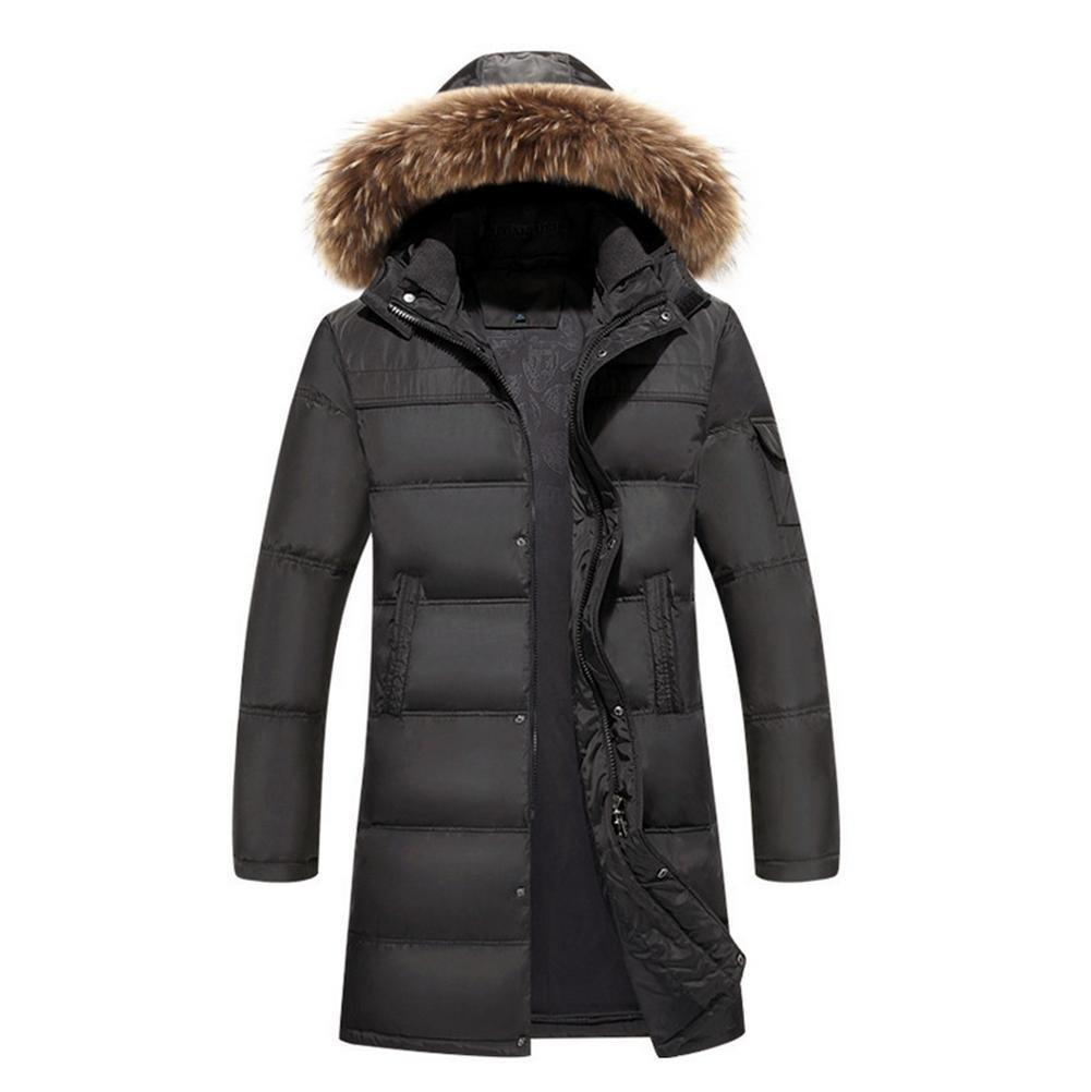Armyvert XXXL YANXH Les Hommes d'hiver Nouveau Bas Veste Longue Section Grande Taille Manteau