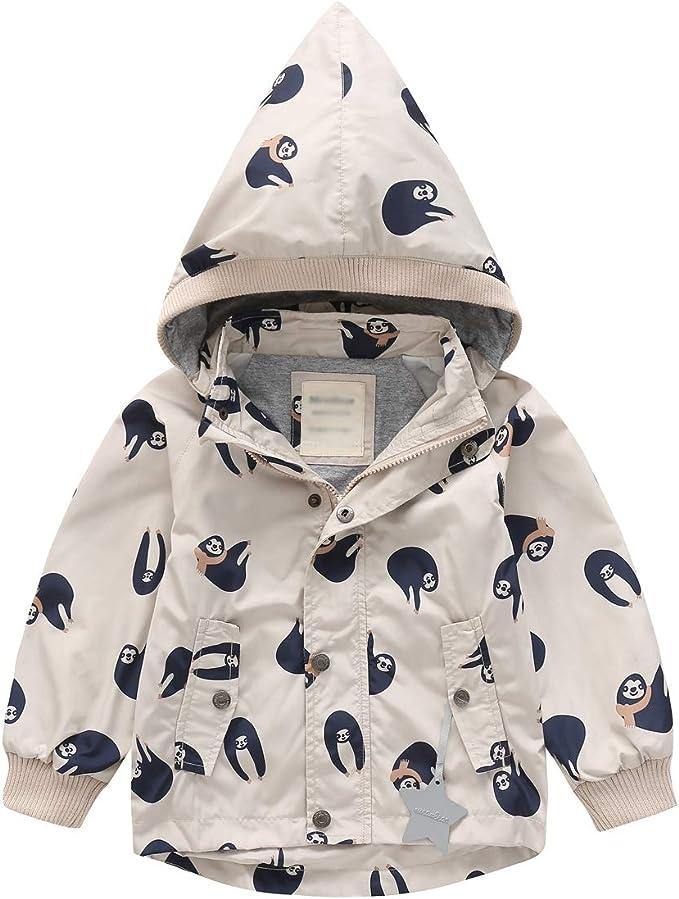 LAPLBEKE M/ädchen Regenjacke mit Kapuze Wasserdichtem Mantel