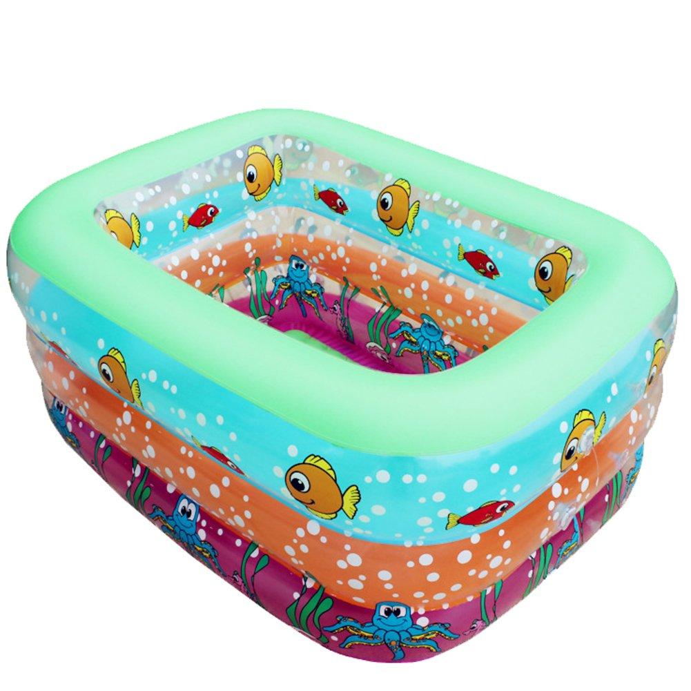 Baby Schwimmbad/Baby Kleinkind Kind Familie aufblasbare Schwimmbecken/Tub/Verdickung Wasserbecken-B