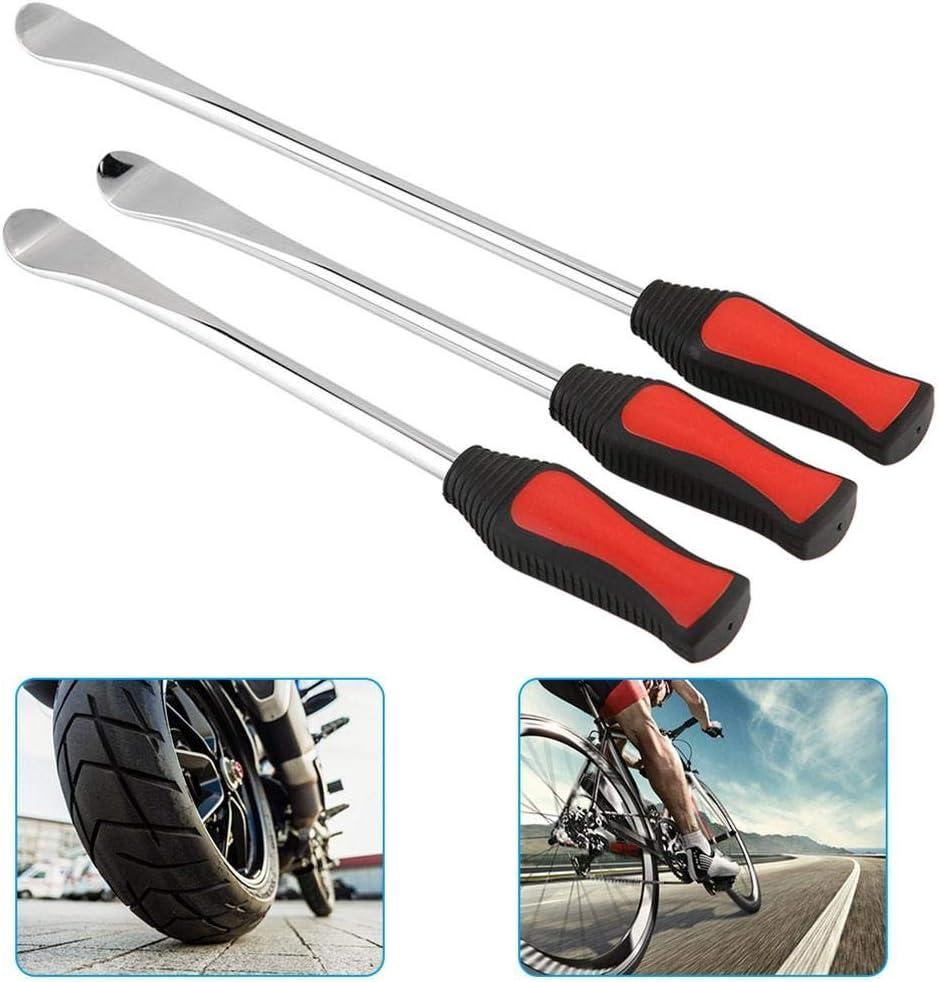 Pneu de levier de pneu 2pcs Protecteurs de jante de roue Kit doutils pour pne cuill/ère de pneu Levier de pneu Cuill/ères de pneu Kits doutils de fer /à levier 3pcs Outil de levier de levier de pneu