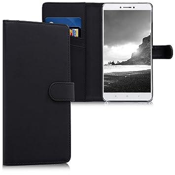 kwmobile Funda para Xiaomi Mi MAX 2 - Carcasa de [Cuero sintético] - Case con Tapa y [Tarjetero] en [Negro]