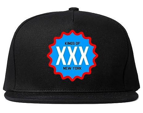 c2f7f81ceed Kings Of NY XXX USA United War Style Printed New York Snapback Black at  Amazon Men s Clothing store