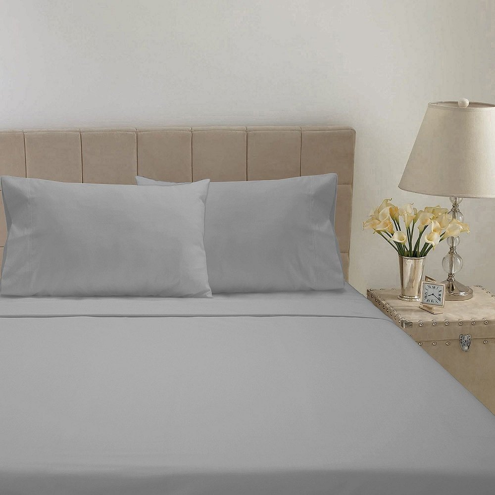 Hotel Luxury Reserve Collection 600 Thread Count Sheet Set QUEEN GREY SOLID