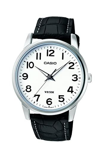 Casio Reloj Analogico para Hombre de Cuarzo con Correa en Piel MTP-1303PL-7BVEF: Amazon.es: Relojes