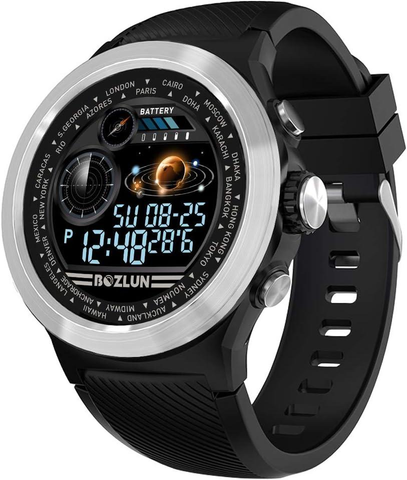 BOZLUN Reloj Inteligente Hombre,Mujer Pulsera Actividad Multifuncion Color Monitor,Monitor de Calorías, Sueño para Android y iOS,IP67 a Prueba de Agua (Silver Black)