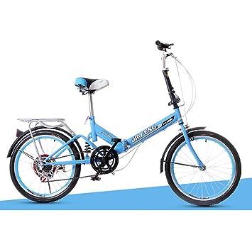 XQ XQ-TT-624 Bicicleta plegable 20 pulgadas 6 velocidades azul