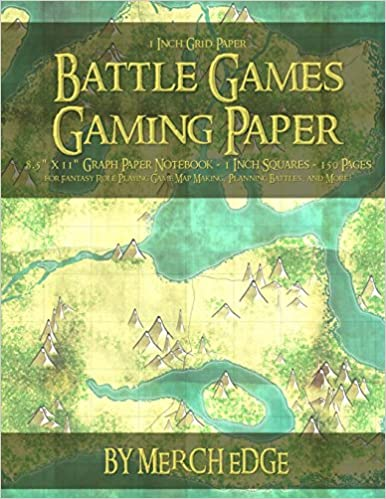 amazon battle games gaming paper 1 inch grid paper 8 5 x 11