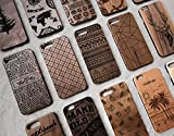 Miniwood iPhone/ Samsung Case - Natural Real Wooden, Laser Engraving, Unique, Classy & Stylish Wood, Unique Case, Protective Bumper with Real All Wooden Cover, Unique Gift for Friends, Her, Him
