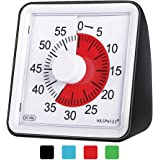 60 Minute Visual Analog Timer–Classroom Countdown timer for Kids and Adults,Time Management Tool for Teaching Cooking…