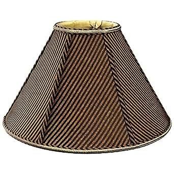 Royal Designs Round Empire Designer Lamp Shade, Striped