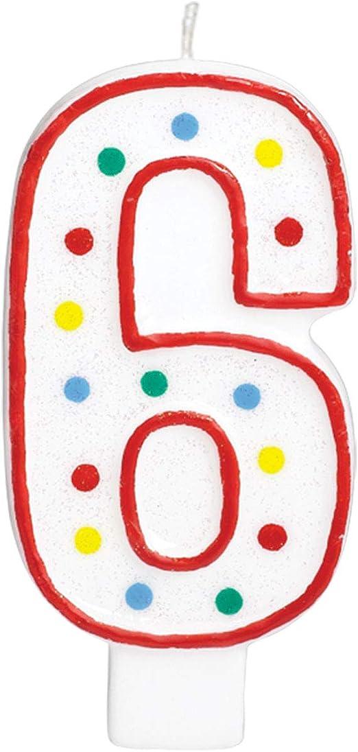 /551796/Safari amscan Number 6/Candle/