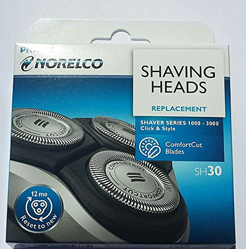 Philips Norelco SH30/52 Replacement Head for Series 1000, 2000, 3000 Shavers and S738 Click and Style