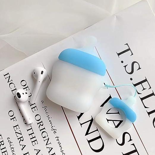 FENGT Estuche Airpods, Estuche Portátil De Silicona Resistente Al Polvo Y A Los Arañazos, Soporte De Carga Inalámbrica, Adecuado para Apple Airpods Charging Box, Compatible con Apple Airpods 2, 1,3: Amazon.es: Hogar