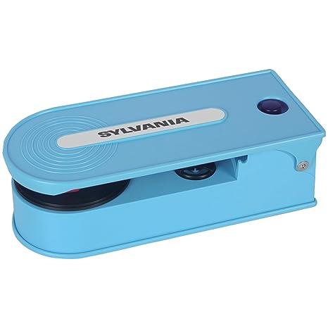 Sylvania Turntable Record Player with USB Encoding, Blue