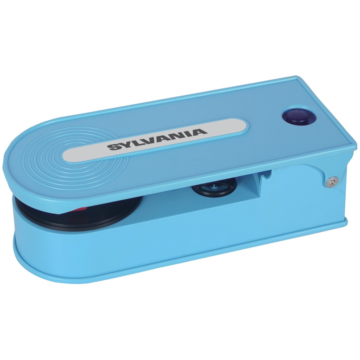 Sylvania Turntable Record Player with USB Encoding, Blue