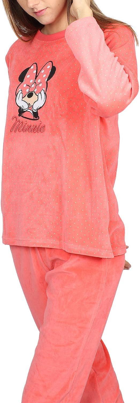 Disney Pyjama /à manches longues en velours pour femme Motif Minnie Bow