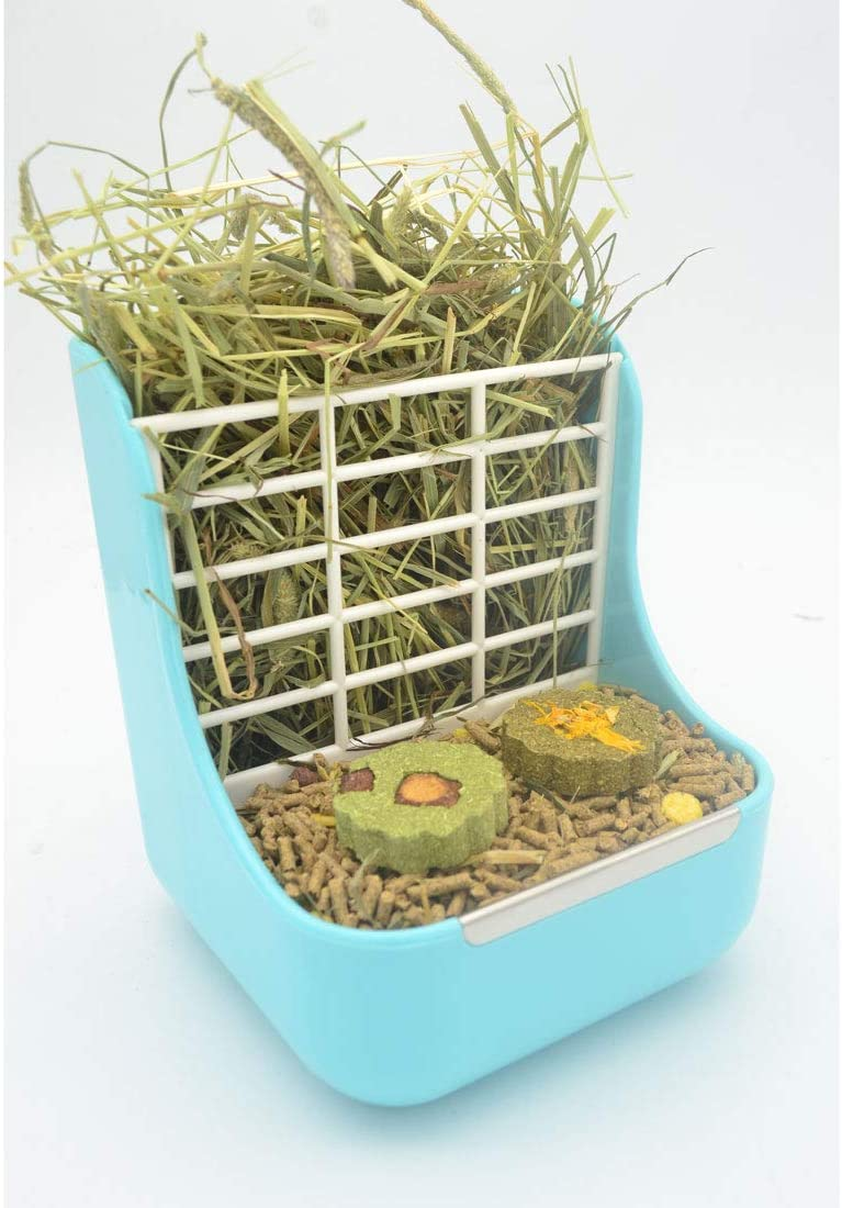 SunshineBio Hay Food Bin Feeder, Hay and Food Feeder Bowls Manger Rack for Rabbit Guinea Pig Chinchilla and Other Small Animals
