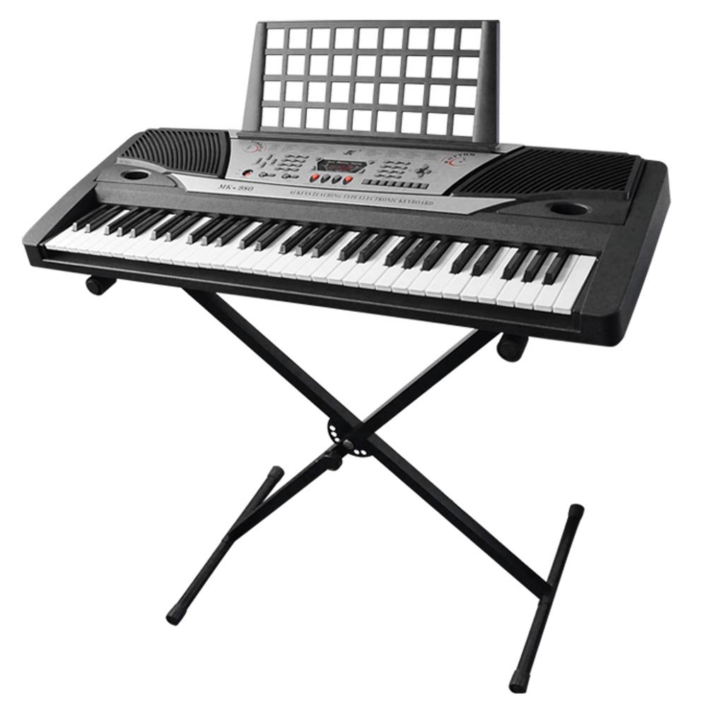 AW Electronic Piano Keyboard 61 Key Music Key Board Beginner 37x14x5'' Piano LCD Display w/ X Stand Manual