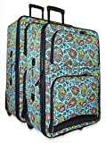 Ever Moda Paisley 2-Piece Luggage Set
