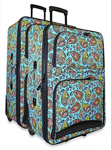 Ever Moda Paisley 2-Piece Luggage Set by Ever Moda