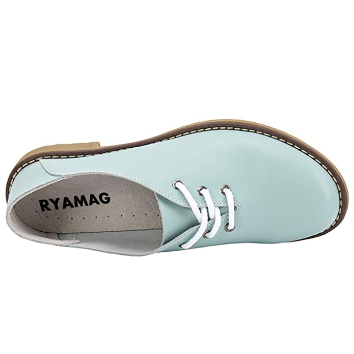 Amazon.com | Dormery 2018 New Handmade Women Flats Genuine Leather Oxfords Shoes Woman Fashion Ballets Flats Casual Moccasins Sapatos Mujer | Loafers ...
