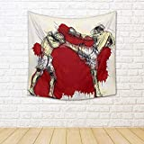 ArtzFolio Muay Thai Martial Art Kickboxing In Thailand Satin Tapestry Wall Hanging 30 x 30inch