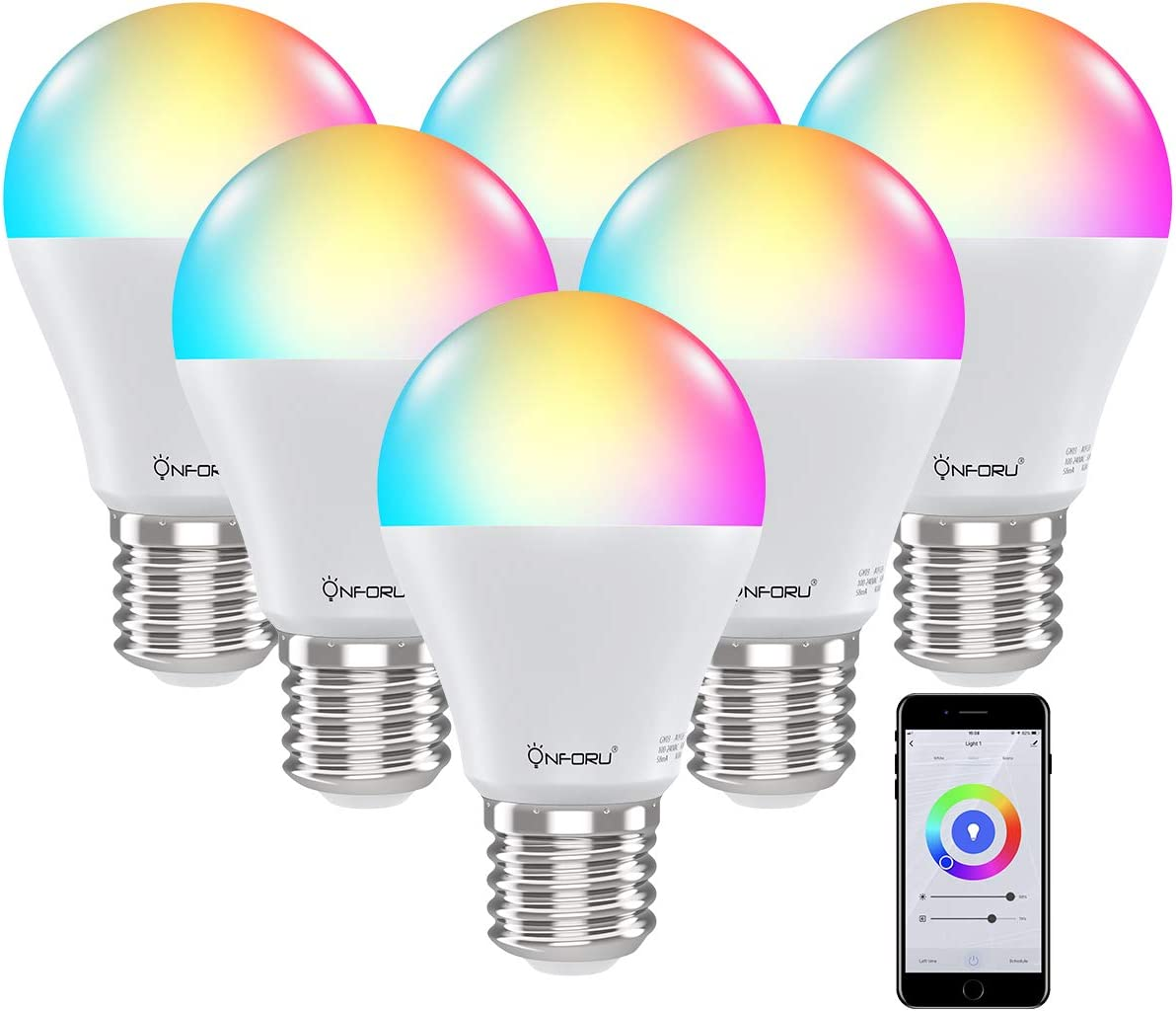 Onforu 6 Pack Smart Light Bulb Work