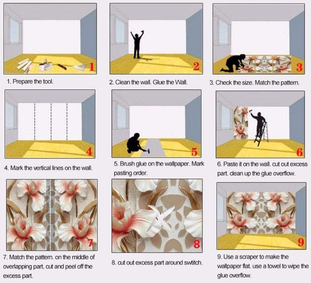 XIANRENGE Papier Peint Mural 4D Personnalis/ée,Cartoon Cute Panda Photo TV Canap/é Fresque Peinture Murale en Soie Fond,Grand Art Print Papier Peint pour Enfants Salon D/écor De Chambre /À Coucher