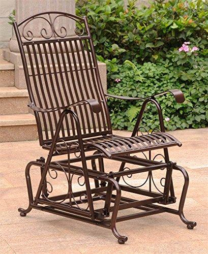 International Caravan 608278 Outdoor Single Glider Chair, ()