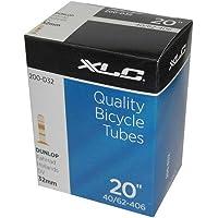 XLC Unisex - volwassenen fietsbinnenband 20 x1.5/2.5 40/62-406 DV 35 mm VT-D20, zwart, één maat
