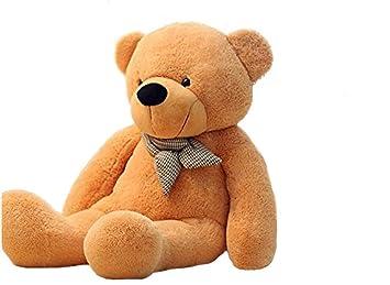 VERCART Grand Nounours 71 inches - Géant Ours en Peluche - Teddy Bear -Marron Clair