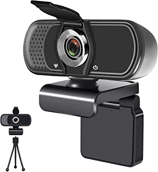 USB 2.0 Desktop Laptop Computer Web Camera with Auto Light Correction for Windows Mac OS Gaming Online Classes Conference Webcam with Microphone1080P Full HD KKUYI for Video Live Streaming