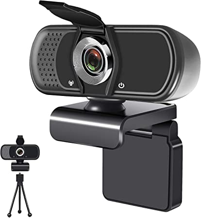 Computer HD Streaming Webcam USB Web Camera for Daily Calling /& Recording Conferencing//Business Meeting//Gaming//Recording Webcam with Microphone 1080P HD Webcam with Privacy Cover and Tripod